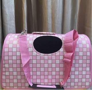 [M Size] Pink Checkered Carrier