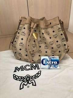 [Vintage] MCM DrawString Shoulder Bag