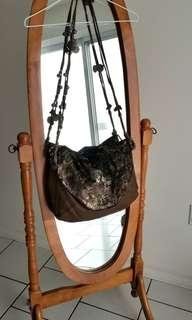 Tylie Malibu gypsy caravan crossbody bag (snakeskin and leather)