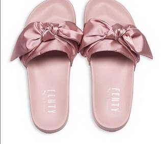 Fenty Puma Pink Bow Slides