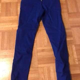 H & M divided blue pants size 4