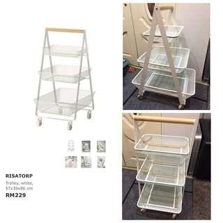 Ikea - Risatorp Trolley, White (57x39x86cm)