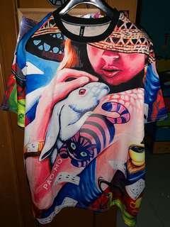 Kaos / blouse fullprint oversized
