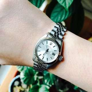 勞力士 不鏽鋼 女錶 Rolex Oyster Perpetual Date Oyster Steel 26mm Ladies Watch 6917