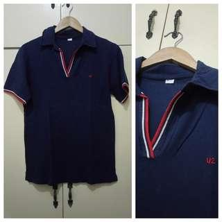 MA228 U2 Dark Blue Polo Shirt Medium - GUC