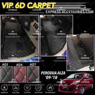 Perodua Alza (Auto) VIP 6D Carpet