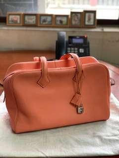 減價 Hermes Victoria 35 Peach color #MILAN03