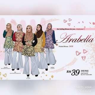 ARABELLA PRINTED BLOUSE (3658)