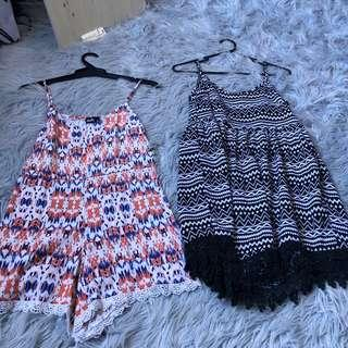 2 playsuits for $8