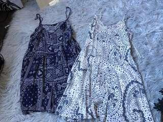 2 playsuits $12