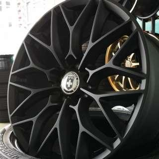 "HRE P200 18"" (REP) Matt Black 5X114.3"