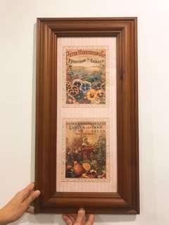 🖼 Classical Peter Henderson.Co picture 🏠 decoration with solid wood frame.