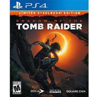 PS4 Shadow of the tomb raider steelbook