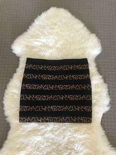 Leopard print tube skirt