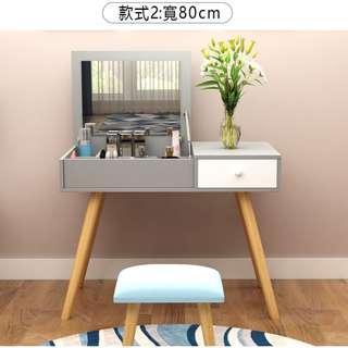 含運含組裝,現代簡約實木梳妝台送椅子,大容量儲物,分類擺放,貼心人性化設計臥室北歐化妝桌兼書桌兩用設計。