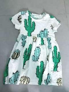 🚚 Next cactus cotton dress for girls