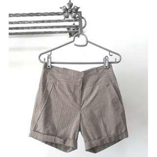 Topshop pinstriped shorts