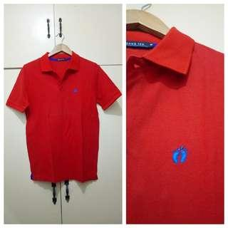 MA229 Hangten Red Medium Polo Shirt - Like New