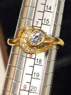 18kgold plate ring