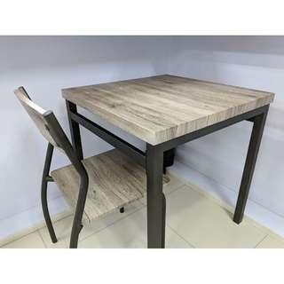 SELLING LOW! 2 chairs 1 table wooden metal set