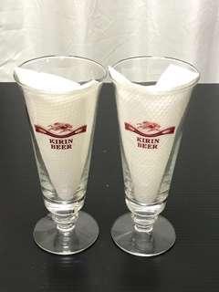 KIRIN BEER Tulip Glases (free postage normal mail)
