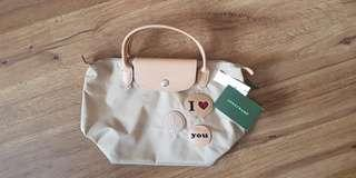 Longchamp (i love you badges) limited edition hand bag