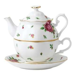 Royal Albert New Country Rose White Tea For One