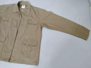 Jaket safari warna moca