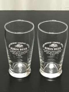 Kirin Beer stubby glasses 200ml (free postage normal mail)