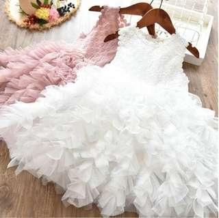 🚚 🌟PM for price🌟 🍀Girl Sleeveless Petal Tulle Pageant Tutu Dress🍀