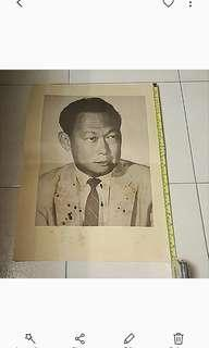 1950s Colonial Print Of MM Lee Kuan Yew Big Size .
