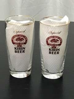 Kirin Beer glasses (free postage normal mail)