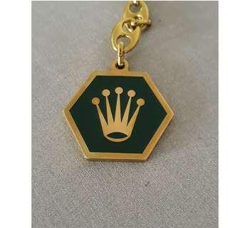 ROLEX RARE & VINTAGE KEY CHAIN BRASS CROWN LOGO LACQUERED