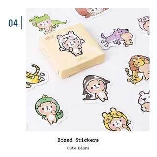 🚚 [IN] [ST] Boxed Stickers: Cute Bears