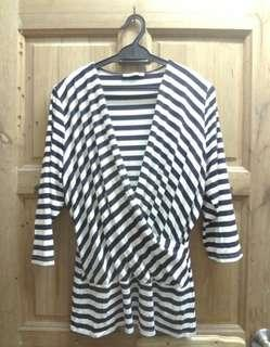 Preloved Marks & Spencer Stripes Top