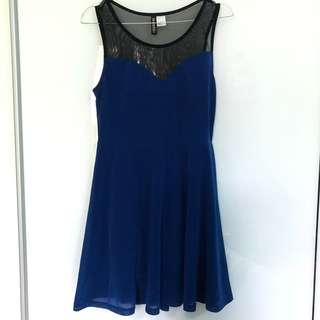 H&M HEART BLUE DRESS