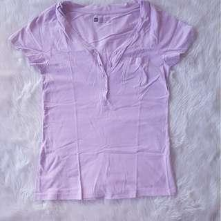 Bench Body Large Lavender Violet Button Shirt