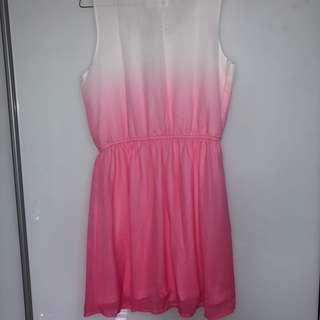 H&M OMBRE PINK DRESS