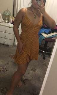 Yellow polkdot dress