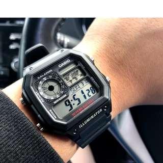 Casio World Time Digital Watch AE-1200WH-1A