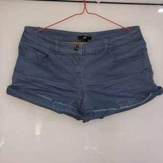 H&M BLUE HOT PANTS