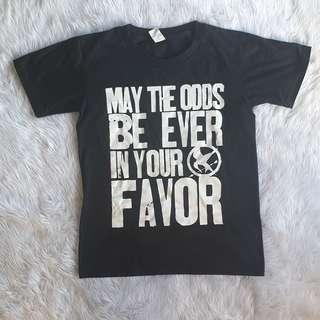Hunger Games Black White Shirt Custom Odds Favor