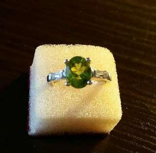 橄欖石925戒指