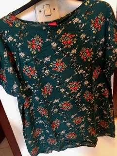 #payday maret blouse flowy green