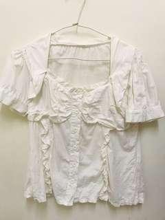 🚚 OL白色襯衫
