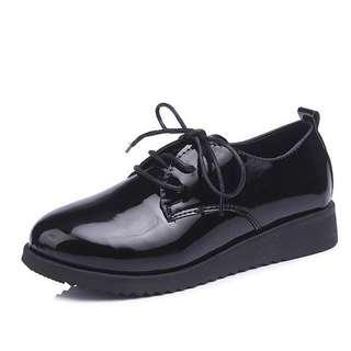 Instock plus size female 44 leather shoes
