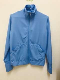 🚚 水藍色風衣外套