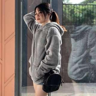 Furry hoodie by UNIQLO