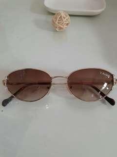 🚚 全新棕色金框金屬邊框太陽眼鏡 咖啡色墨鏡