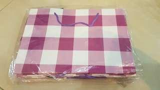 Purple Chequered Gift Bags